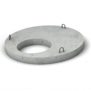 Железобетонная крышка, диаметр 1 м.