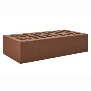 Одинарный коричневый (шоколад) облицовочный кирпич, 1НФ М-150